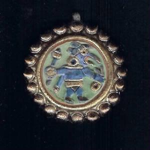 Inca jewellery inca blue warrior pendant aloadofball Images